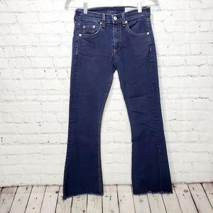 "Rag & Bone 10"" crop flair blue jeans like new 24"